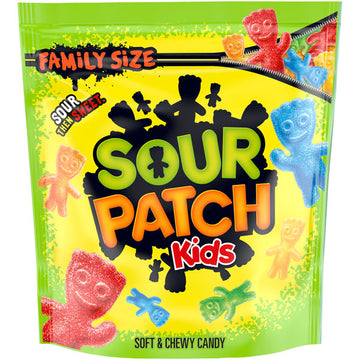 Sour Patch Kids Soft & Chewy Candy, Family Size, 1.8 lb