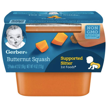 Gerber 1st Foods Baby Food Butternut Squash, 2oz, 2 Count