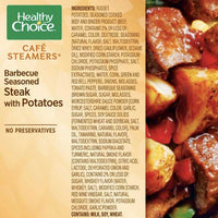 Healthy Choice Barbecue Seasoned Steak with Potatoes, 9.5 oz - Water Butlers