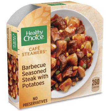Healthy Choice Barbecue Seasoned Steak with Potatoes, 9.5 oz