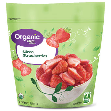 Great Value Organic Sliced Strawberries, 32 oz