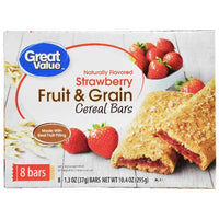 Great Value Fruit & Grain Bars, Strawberry, 8 Count - Water Butlers
