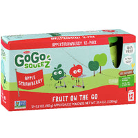 GoGo squeeZ Applesauce, Strawberry 3.2oz, 12 Ct - Water Butlers