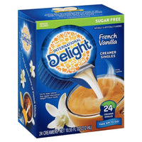 International Delight Sugar Free French Vanilla Creamers, 24 Count - Water Butlers