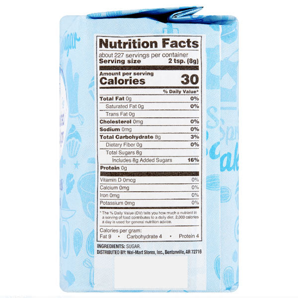 Great Value Pure Granulated Sugar, 4 lb - Water Butlers