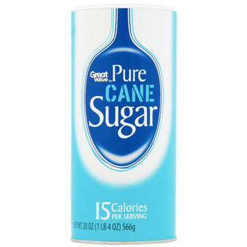 Great Value Pure Cane Granulated Sugar, 20 oz