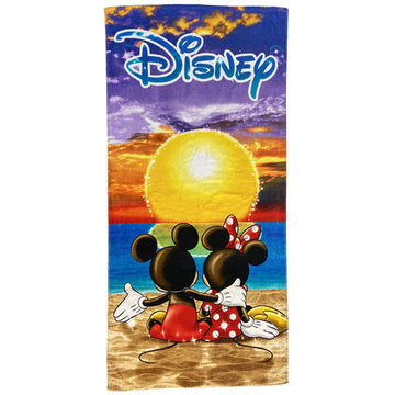 Disney Mickey and Minnie Mouse Sunset Bath and Beach Towel