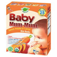 Baby Mum-Mum, Sweet Potato & Carrot, 24 Ct - Water Butlers