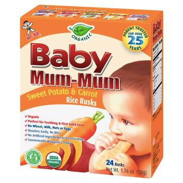 Baby Mum-Mum, Sweet Potato & Carrot, 24 Ct