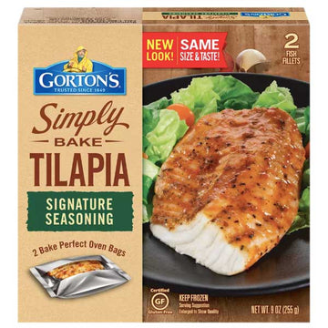 Gorton's Simply Bake Signature Seasoning Tilapia, 9 oz