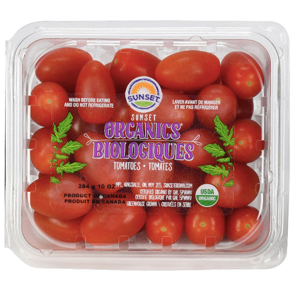 Sunset Organic Grape Tomatoes, 10 oz - Water Butlers