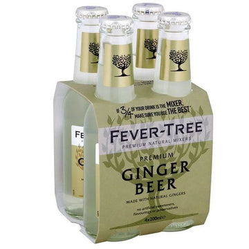 Fever Tree Ginger Beer, 6.8 fl oz bottles, 4 Ct