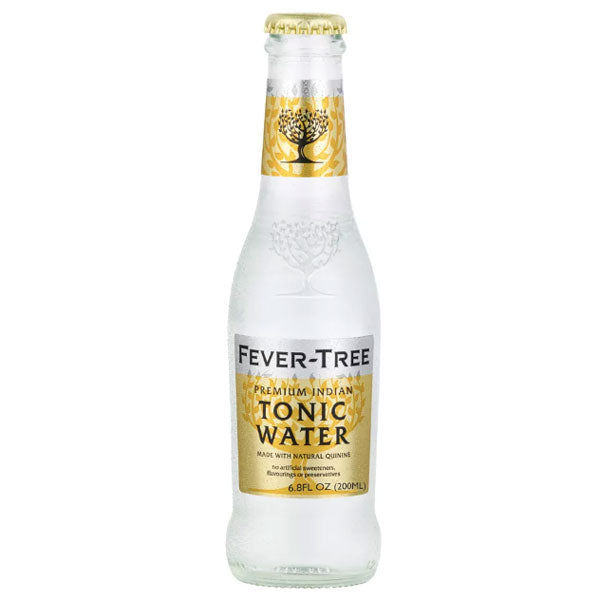 Fever Tree Tonic Water, 6.8 fl oz bottles, 4 Ct - Water Butlers