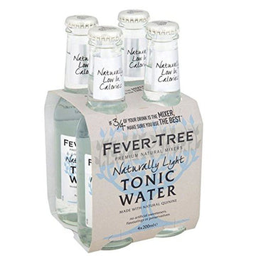 Fever Tree Light Tonic Water, 6.8 fl oz bottles, 4 Ct