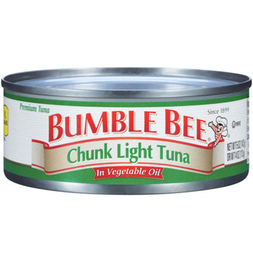 Bumble Bee Chunk Light Tuna in Vegetable Oil, 5 oz