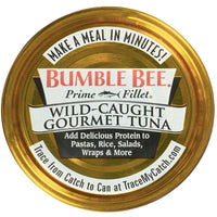 Bumble Bee Prime Fillet Solid White Albacore Tuna in Water, Low Sodium 5oz - Water Butlers