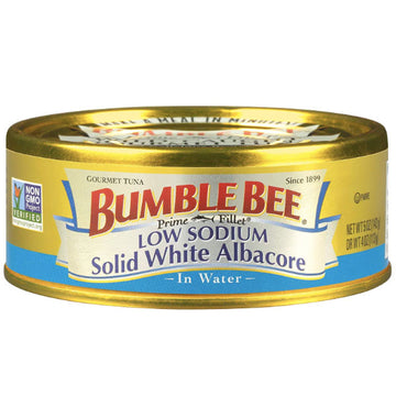 Bumble Bee Prime Fillet Solid White Albacore Tuna in Water, Low Sodium 5oz