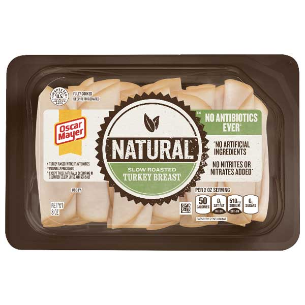 Oscar Mayer Natural Slow Roasted Turkey Breast, 8 oz - Water Butlers