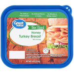 Great Value Thin Sliced Honey Turkey Breast, 9 oz - Water Butlers