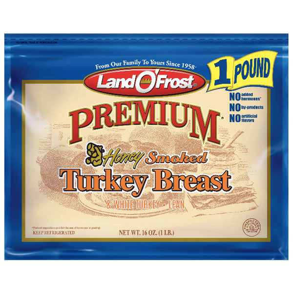 Land O'Frost Premium Honey Smoked Turkey Breast, 16 oz - Water Butlers
