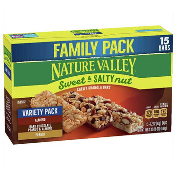 Nature Valley Sweet & Salty Nut Granola Bars Variety Pack 15 Ct