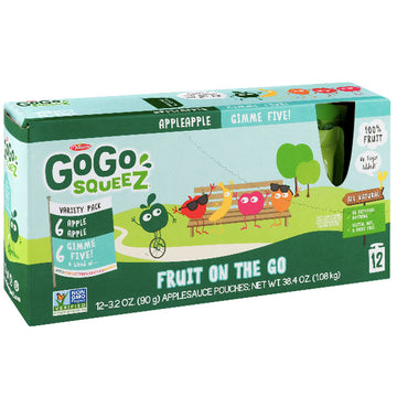 GoGo SqueeZ Applesauce, Fruit On the Go, Variety Pack, 12 Ct