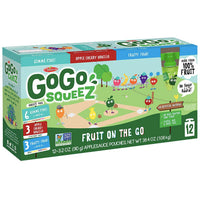 GoGo squeeZ Applesauce, Variety Pack: GIMME 5, Cherry Vanilla, Fruity 4. 3.2oz, 12 Ct - Water Butlers