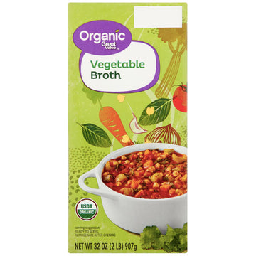 Great Value Organic Vegetable Broth, 32 oz