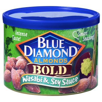 Blue Diamond Almonds, Bold Wasabi & Soy Sauce, 6 oz