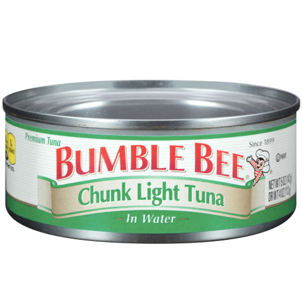 Bumble Bee Chunk Light Tuna In Water, 5oz - Water Butlers