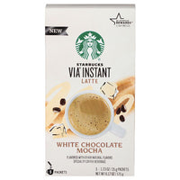Starbucks VIA Instant White Chocolate Mocha Latte Coffee, 5 Count - Water Butlers
