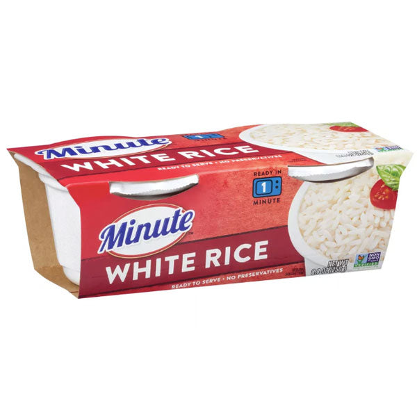Minute Microwaveable White Rice 8.8oz, 2 Ct - Water Butlers