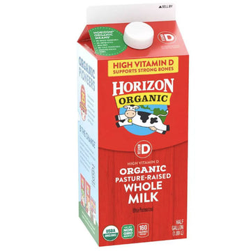 Horizon Organic Vitamin D Whole Organic Milk Half Gallon