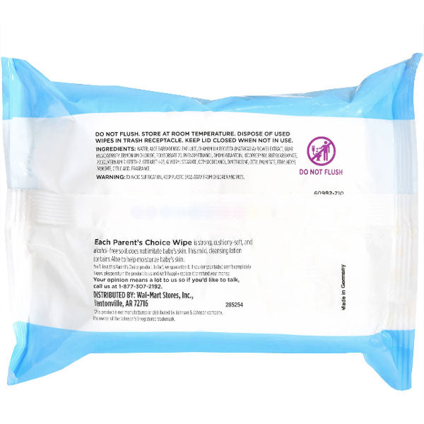 Parent's choice Hand & Face Wipes, 25 Ct - Water Butlers