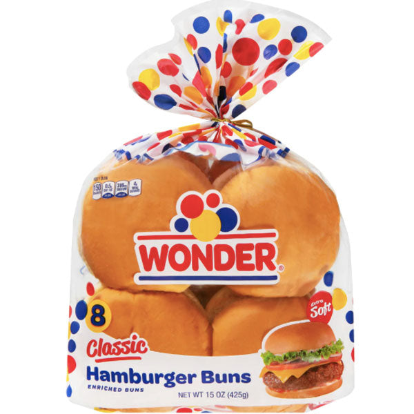 Wonder Bread Hamburger Buns, 8 Count - Water Butlers