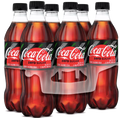 Coca Cola Zero, 16.9 Fl Oz Coke 0, 6 Ct