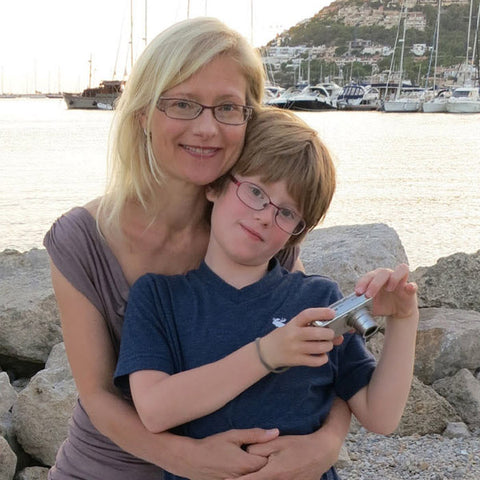 Image of Supertreats founder and her son.