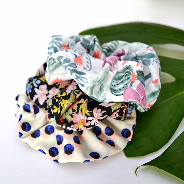 Art Cotton Scrunchie Set