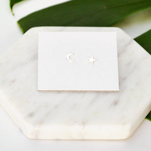 Night Sky Studs Sterling