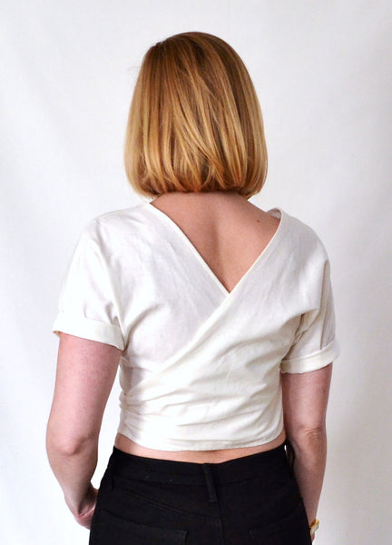 Reversible Linen Wrap Top