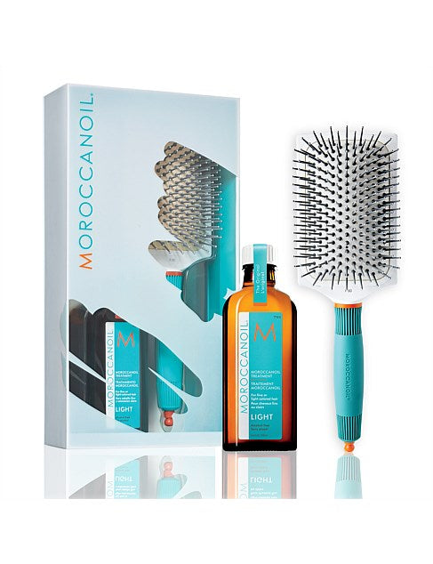 Moroccanoil Oil Treatment Light + Gratis Paddle Brush XL 100ml