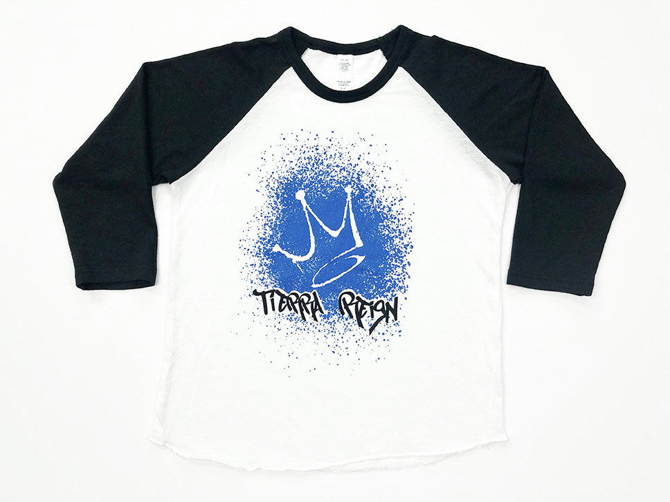 Tierra Reign Home Team Baseball Tee Black and White