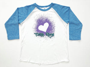 Tierra Reign Home Team Baseball Tee Blue and White