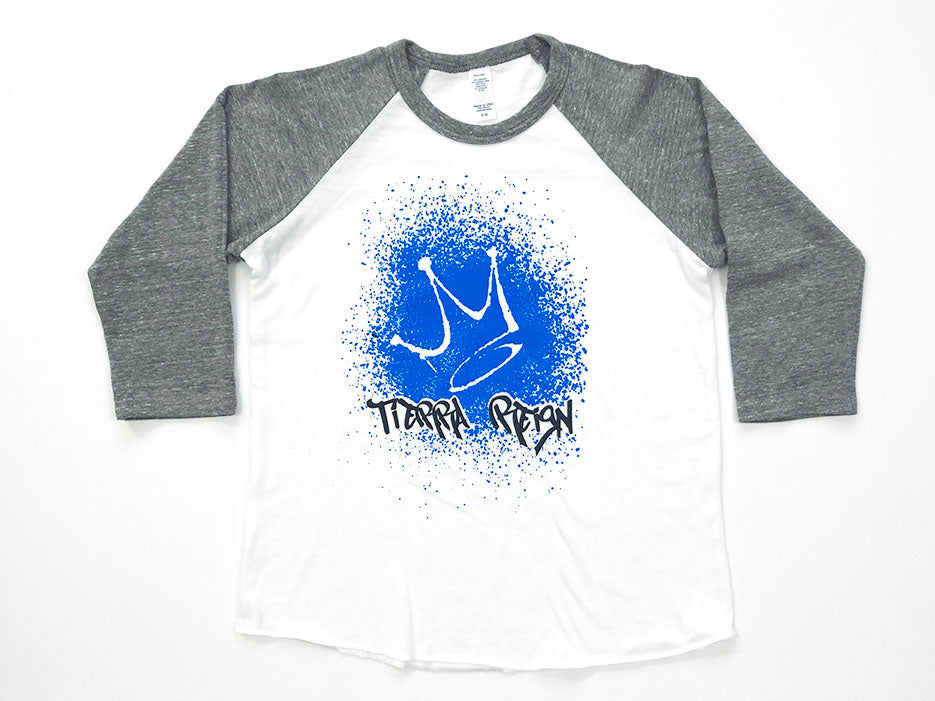 Tierra Reign Home Team Baseball Tee Gray and White