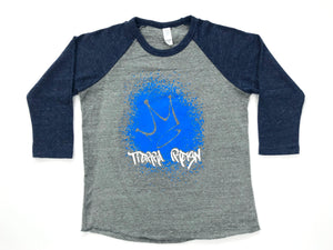 Tierra Reign Home Team Baseball Tee Navy and Gray