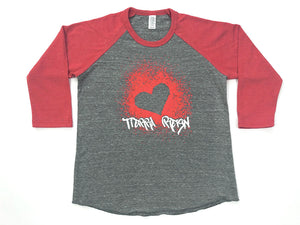 Tierra Reign Home Team Baseball Tee Red and Gray
