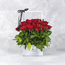 Load image into Gallery viewer, Rose Arrangement in metal basket