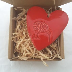 Hasina Large Heart With NZ Map, Kiwi, or Fern Boxed