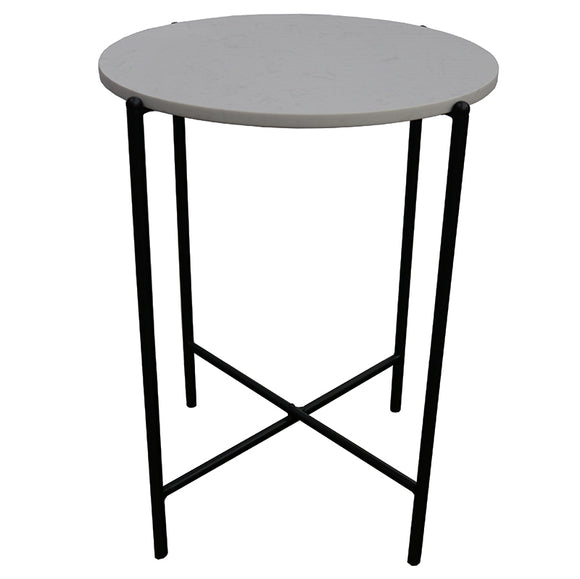 Le Forge Crete Marble Side Table