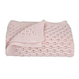 Living Textiles Lattice Baby Shawl